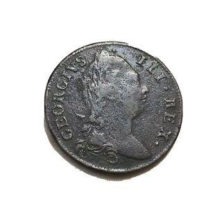 1775 Ireland Hibernia Colonial American Colonies Halfpenny Copper Coin Hi Grade