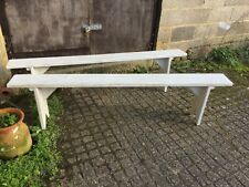 """Pair of 6ft 3"""" French Vintage Painted Pine  Benches"""