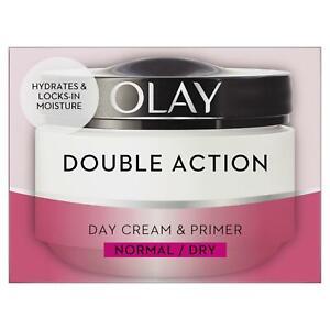 Olay Double Action Moisturiser Day Cream & Primer Normal Dry Skin Classic 50ml