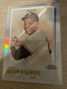 WILLIE MAYS 2020 Topps Chrome Allen & Ginter Silver Refractor Card #29 Giants