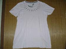 Hüftlange Ulla Popken Damenblusen, - tops & -shirts mit Rundhals-Ausschnitt