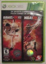 Xbox 360 2K Sports Combo Pack : MLB 2K12 & NBA 2K12 (Manual, box and game)