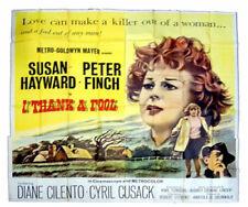 I THANK A FOOL, 1962, SUSAN HAYWARD, SIX SHEET