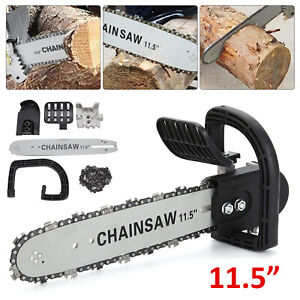 11.5''  Electric Chainsaw Bracket Grinder Conversion Head Tree Woodworking