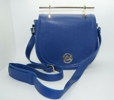 BEBE Royal Blue Top Handle Crossbody Saddle Bag Purse