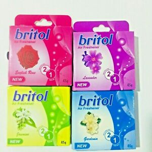 Britol Air Fresher small pack for home/vehicle Floral Scent perfume odor remover