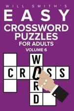 Easy Crossword Puzzles for Adults - Volume 6 (Paperback or Softback)