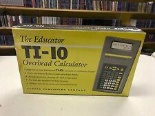 The Educator Ti-10 Overhead Calculator
