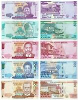 MALAWI SET LOT 5 PCS 20,50,100,200,500 KWACHA 2017-2019 NEW UNC