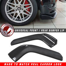 ABS Plastic Side Skirts Spoiler Lip Carbon Fiber Look Front Bumper Splitters