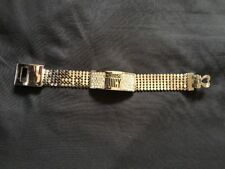 Juicy Couture Silver Tone Bracelet With Crystal Charm Station