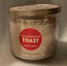 Bath & Body Works Candle glass jar Champagne Toast sparkle top