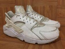 RARE🔥 Nike Air Huarache Run PA White Ostrich Leather Gum Sz 12 705008-111 Worn