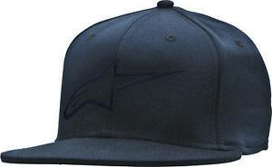 Mens Alpinestars Ageless Flat Bill Hat Flexfit Hats Sm MD Lg XL Moto BMX