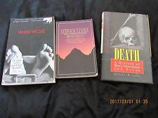 Lot 3 Books-Who Dies-Stephen Levine,When We Die-Cedric Mims-Death-Robert Wilkins