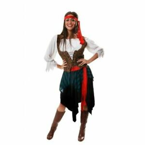 Ladies Caribbean Pirate Lady Halloween Fancy Dress Costume One Size Outfit