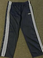 Vtg 90s Adidas Breakaway Track Pants L Blue Workout Warm Up Basketball Athletic