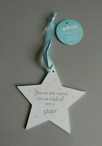 New Baby Plaque. You Are What Happened When We Wished Upon A Star