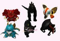 Godzilla Destoroyah Gigan Muto Mothra Chibi Movie 6 Toy Figures Set Cake Topper