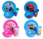 Infantil 3 Piezas Plástico Plato Tazón & Cup Set - Disney/PERSONAJE