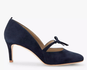 Boden Anthea Navy Suede Mary-Jane type shoe -Size 38