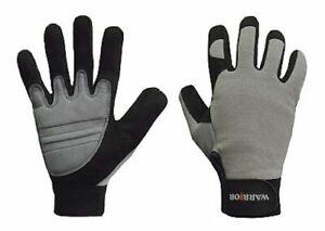 Warrior shock impact work gloves MG-AV-05 Size X-Large Grey/Black