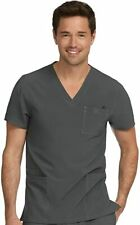 Med Couture Activate Men's Performance Scrub Top, 8528, Nwt, Pewter, Xl
