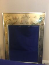 Exceptional Labarge Eglomise Beveled Glass Wall Mirror - Reverse Painted/Signed