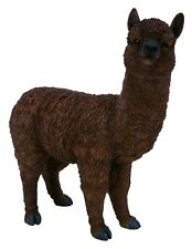 Vivid Arts - Real Life Chocolate Alpaca Home or Garden Decoration (XRL-ALP4-C)