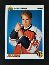 PETER FORSBERG 1991-92 Upper Deck Rookie RC #64 Flyers Avalanche 🇸🇪