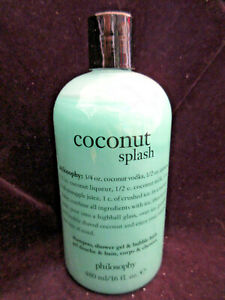Philosophy Coconut Splash Shampoo Shower Gel Bubble 16 OZ MZ