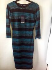 M&S COLLECTION Dress With Metallic Texture Size: 8 Short