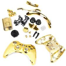 Golden Full Housing Shell Case Kit Parts for Xbox 360 Wireless Controller