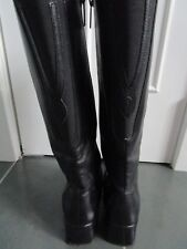 BLONDO Canada Waterproof Black Leather Knee High Boots Size 7 M Heels 2 1/4''