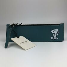 VACACALIENTE 2020 Peanuts Snoopy Hug Leather Flat Pencil Case