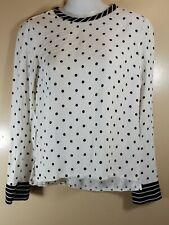 Blusa Zara M Blanco Con Puntos Negros