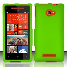 For HTC Windows 8X Rubberized HARD Protector Case Snap On Phone Cover Neon Green