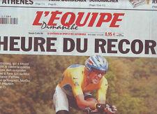 journal  l'equipe 25/07/2004 CYCLISME TOUR DE FRANCE 2004 ARMSTRONG