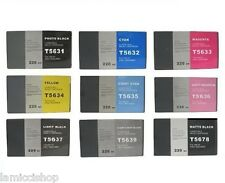 Wide Format Ink 9 Cartridge Set Compatible for Epson Stylus 7800 9800 Pigment