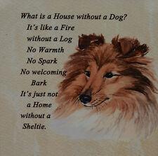 SHETLAND SHEEPDOG SHELTIE DOG sable colour PLAQUE TILE SANDRA COEN ARTIST PRINT