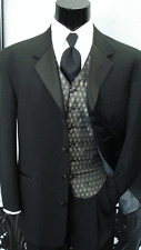 40 S Chaps Ralph Lauren Black Tuxedo Jacket Cheap Frock Coat Costume TUXXMAN Tux