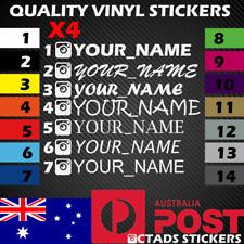 X4 Instagram name Sticker Vinyl Decal JDM Drift Car 200mm wide