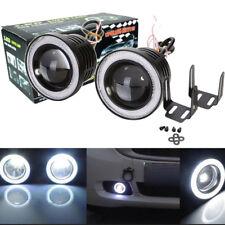 """3"""" Inch COB LED Fog Head Light Projector Car White Halo Angel Eye Ring DRL Bulb"""