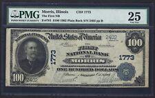 IL 1902 $100  ♚♚MORRIS, ILLINOIS♚♚  PMG VF 25   RARE NOTE!!!
