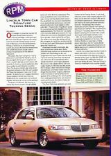 1998 Lincon Town Car Signature Touring Original Car Review Print Article J530