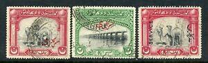 Weeda Pakistan - Bahawalpur O1, O2, O12 Used 1945 Official issues CV $32