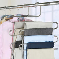 S Hanger Pants Trousers Clothes Storage Scarf Tie Space Saving Multifunctional