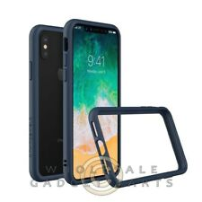 Apple iPhone X Rhino Shield Crash Guard Bumper - Dark Blue Case Cover Shell