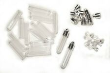 """Wholesale! 100 pk """"Tube Glass Vial Pendants"""" business closed last of inventory!"""