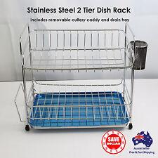 Stainless Steel Kitchen Dish Drying Rack Drainer Tray Cutlery Holder Shelf KOREA